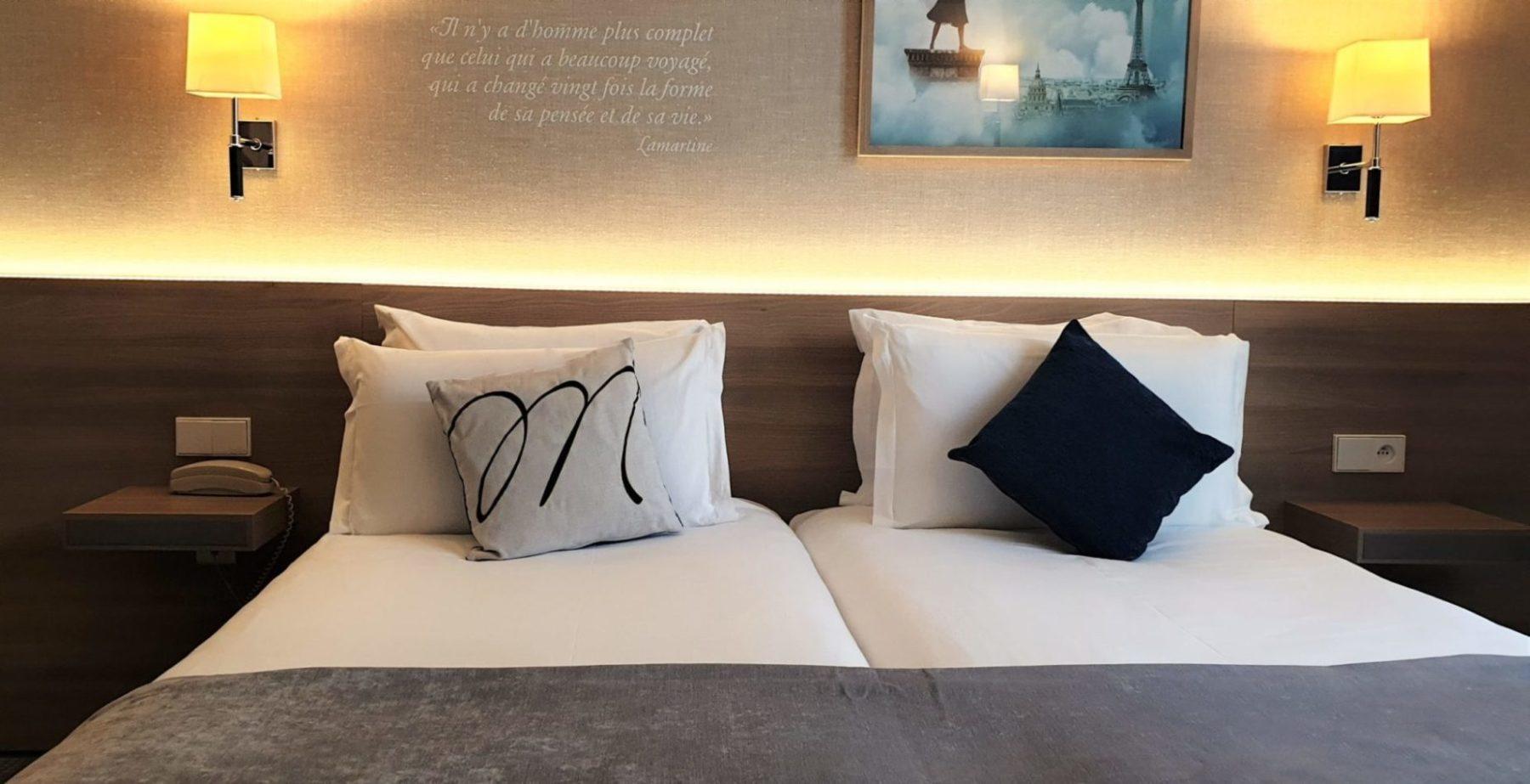 Chambre twin - Hôtel magda champs-élysées (2)