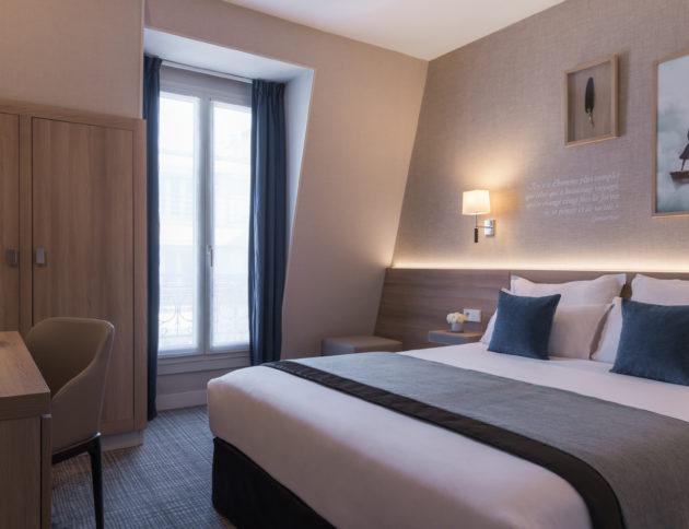 Double supérieure bleue - hôtel magda champs-élysées