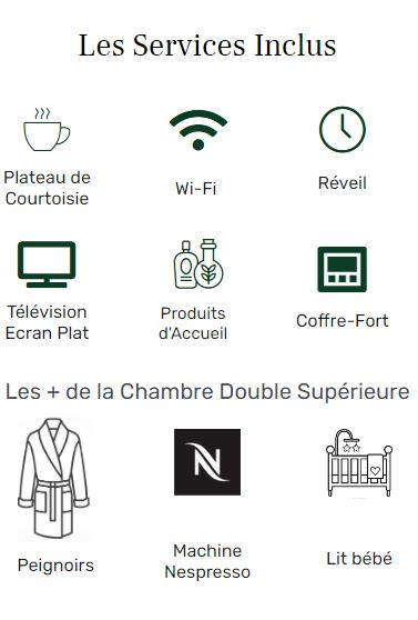 services inclus - double supérieure - hôtel acacias étoile