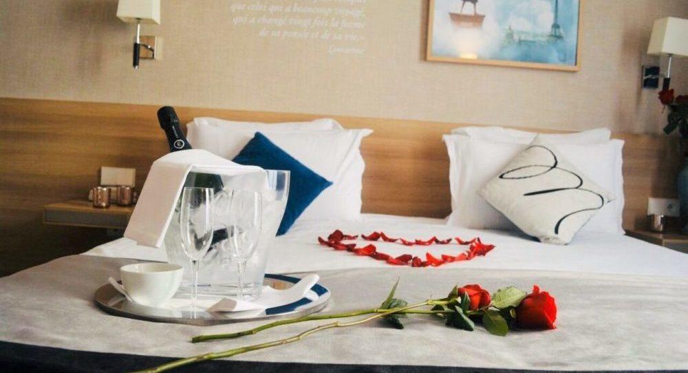 chambre romantique - hôtel magda champs-élysées